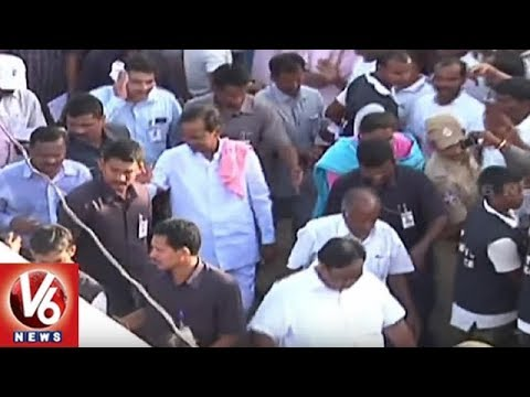 CM KCR To Launch Gattu Lift Irrigation Project Pylon | Mahbubnagar | V6 News