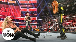 Suspended Becky Lynch attacks Charlotte Flair and Ronda Rousey with crutches: WWE Now