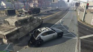 GTA5 LSPD Tank Chase