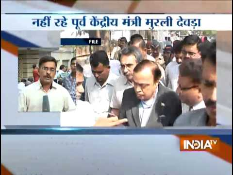 Ex-Union minister Murli Deora funeral to be held today