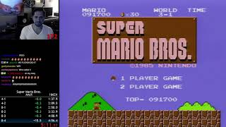 (4:56.245) Super Mario Bros. - Any% World Record Speedrun