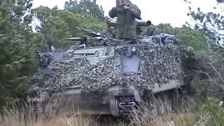 Manöver Dänische Armee Truppenübungsplatz Oksbol November 2002 Leopard 1 DK M113 G3 Army Teil 5