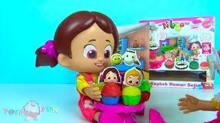 Niloya Cupcake Spielknete Set Heidi Zeichentrickfilm Puppe und Mascha knete Cupcakes Niloya