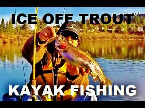 How to Catch Spring Rainbow Trout Shannon Lake Kayak Fishing