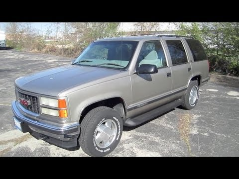 1999 GMC YUKON 5.7L V8 start up, walk around and review