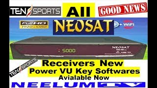 All Neosat HD Receivers Sony Network New Software Available Now.