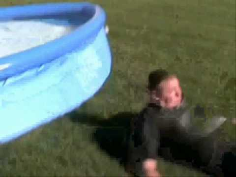 Backyard Waterslide Fail