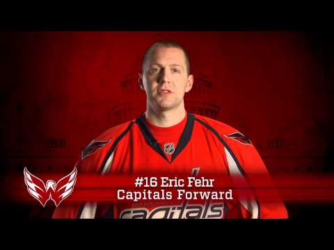 Washington Capitals' Eric Fehr for Columbia Lighthouse for the Blind