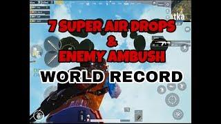 Conqueror WORLD RECORD Flare super drops and Pochinki MASSACRE ENDING| 7? | PUBG MOBILE