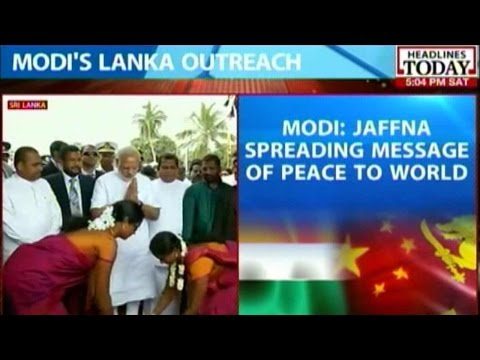 PM Modi Visits War Ravaged Jaffna Region In Sri Lanka