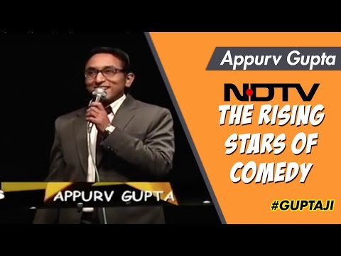 Appurv Gupta Featured On Ndtv Prime In the Rising Stars Of Comedy video