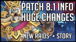 HUGE CHANGES IN PATCH 8.1 - Everything We Know So Far | WoW Battle for Azeroth