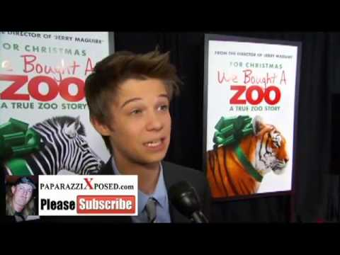 Colin Ford star of We Bought a Zoo interview with PaparazziXposed com