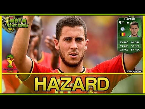 FIFA 14 UT - iMOTM Hazard || World Cup iMOTM Ultimate Team 92 Player Review + In Game Stats