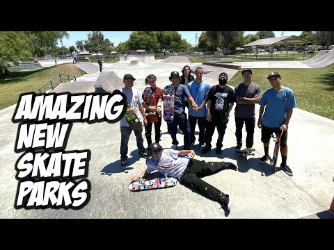 AMAZING NEW SKATEPARKS !!! - NKA VIDS -