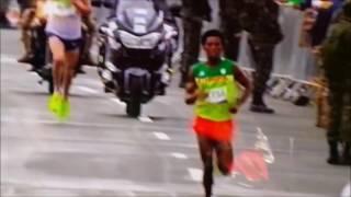Feyisa Lilessa Marathon in Rio Olympic