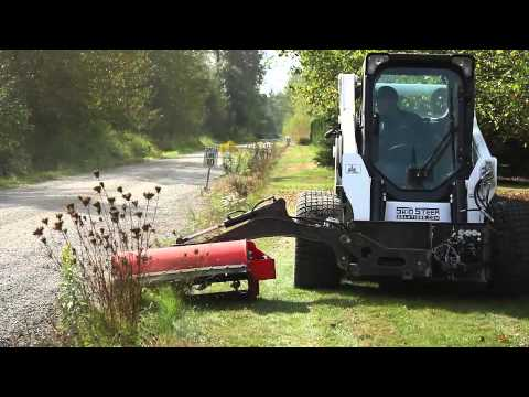 Eterra Scorpion Side Mower Attachment For Skid Steer And