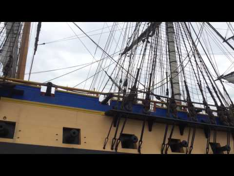 The French Ship Hermione at our dock in Newport, RI