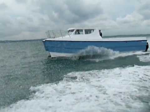 BWSeaCat S.P.E.E.D. Power Catamaran Initial Sea Trials