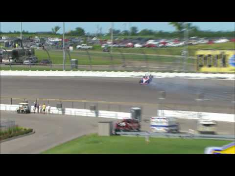Milka Duno crashes during Iowa Quals Video