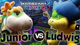 ABM: Bowser Jr Vs Ludwig!! Mario Kart 8 Deluxe!! RACE & BATTLE MATCH!! HD