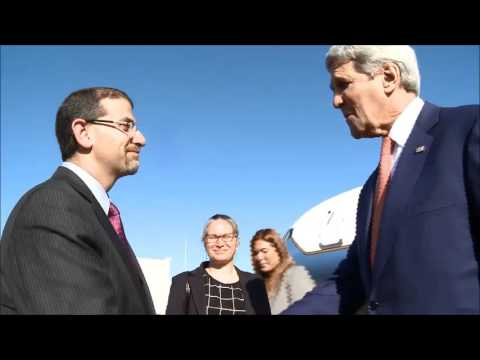 US Secretary of State John Kerry arrives in Tel Aviv, Israel