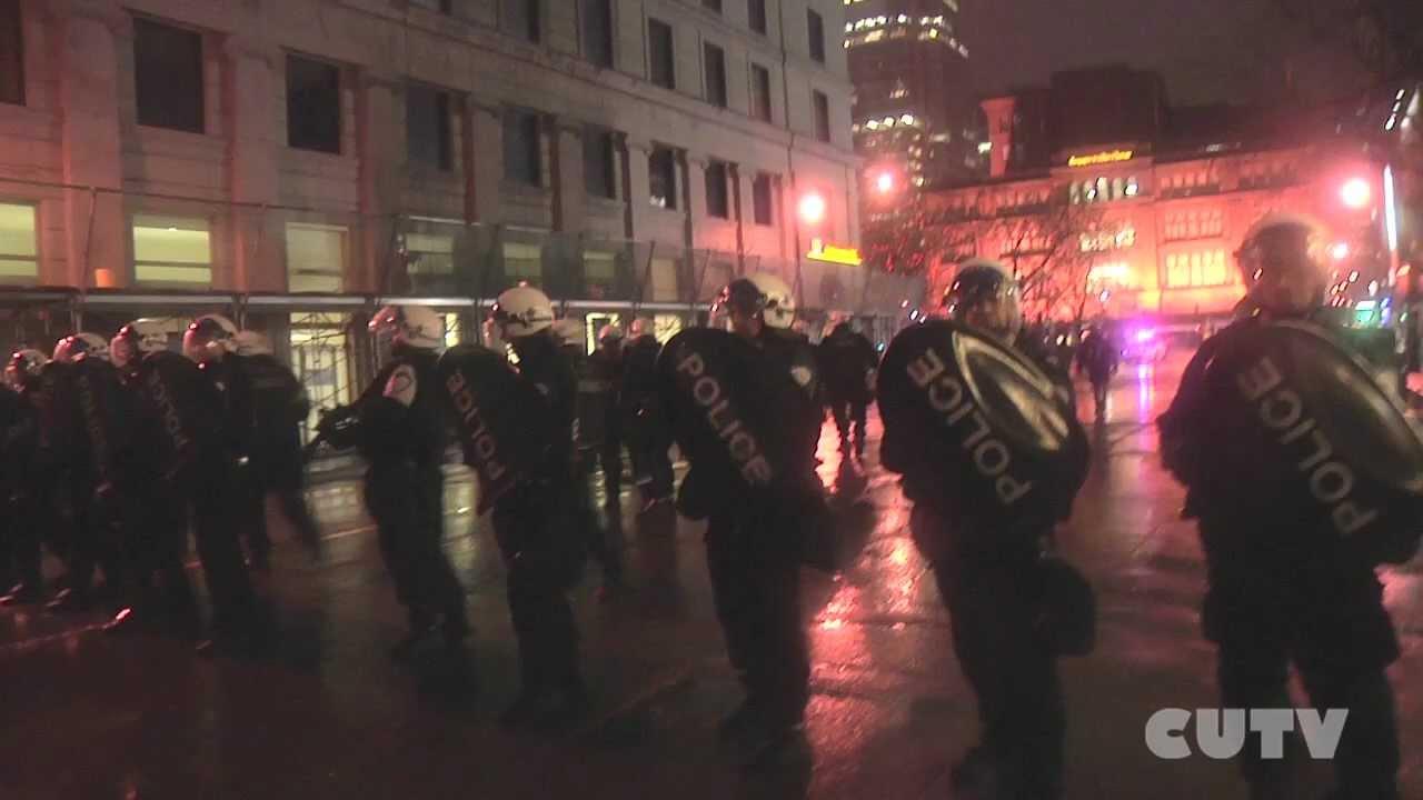 Montreal student night protest marathon