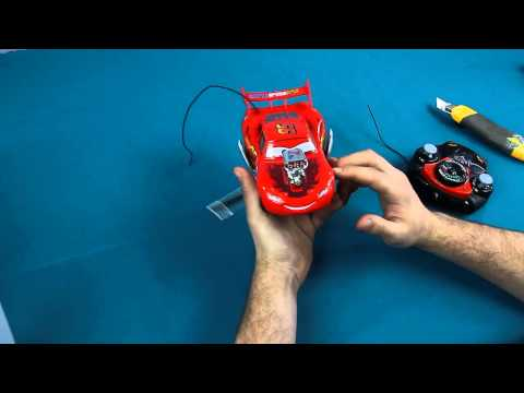 Zygzak McQueen Hot Rod / Hot Rod McQueen - RC Disney Cars - Dickie - prezentacja produktu