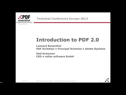 Introduction to PDF 2.0