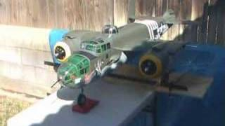Top Flite B-25 Saito FA-90TS Engine Test