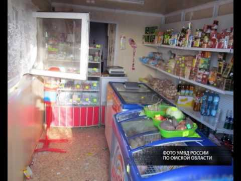 В Любинском районе ночью неизвестные кувалдой выбили магазинное окно