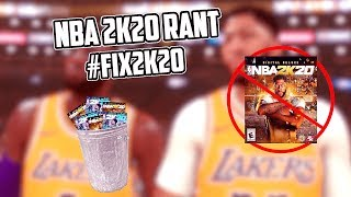 The WORST Video Game Launch EVER | NBA 2K20 RANT #fix2k20