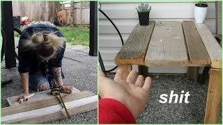 how to build a shitty table DIY
