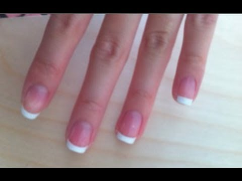at home french manicure how i do my nails  youtube