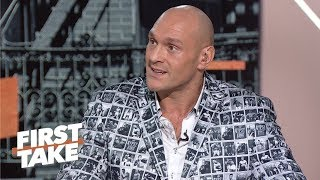 Tyson Fury challenges Anthony Joshua to prove himself on the world stage | First Take