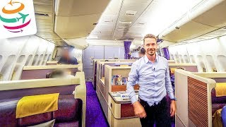 Thai Airways Royal First Class 747-400 | GlobalTraveler.TV