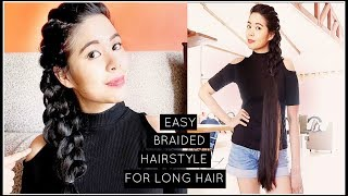 My Go To 2 Minute Summer Braided Hairstyle For Long Hair-Beautyklove