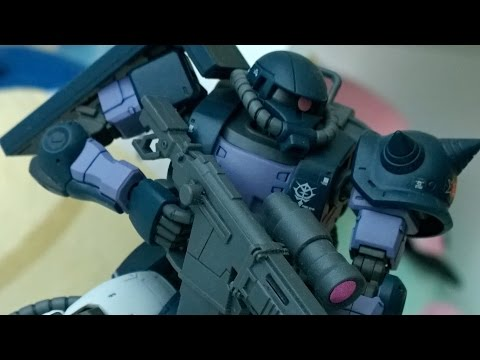 CITRUS REVIEWS   HG-ORIGIN Black Tri-Stars Zaku II