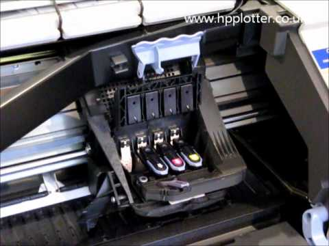 HP Designjet 500 repair - how to replace the print head