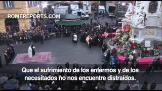 Romereports Vaticano Videos del Papa Francisco Homilias - El Papa, en la Plaza de España, para rezar a la Inmaculada