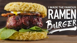 I made the FAMOUS RAMEN BURGER, here is how to make it!