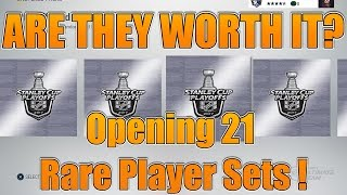 WE GOT SOME! - Opening 21 Playoff Rare Player Packs - NHL 17 ARE THEY WORTH IT