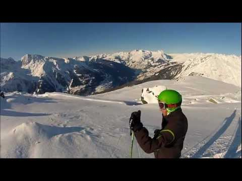 Go Pro HD Hero 2 - OFF-PISTE - POWDER SKIING - 1080p.wmv Music Videos