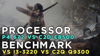 Tomb Raider 2013 Benchmark - Pentium 4 672 vs Core 2 Duo E8500 vs Core i3 3220 vs Core 2 Quad Q9300