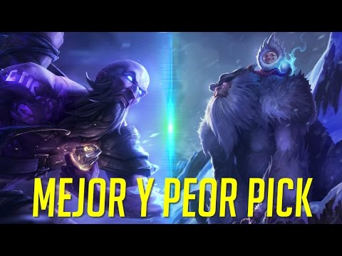 El Mejor y Peor Pick - 39% WinRate vs 55% WinRate - League of Legends 7.10