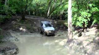 offroading at fourmarks in my pajero.        14.08.10