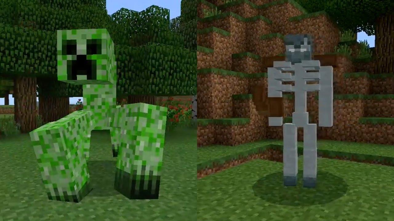 New Mobs in Minecraft Pocket Edition (Mutant Creatures Addon)