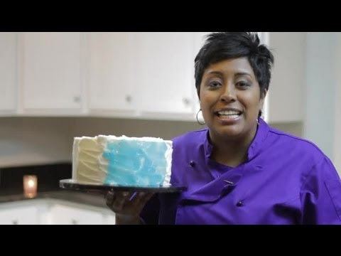 How to Decorate a Blue Pool Water Cake With Gel : Cake Decorating