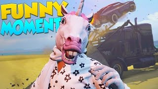 GTA 5 Funny Moments - Animal Masks, New Vehicles, Police Chases! (Import/Export DLC)