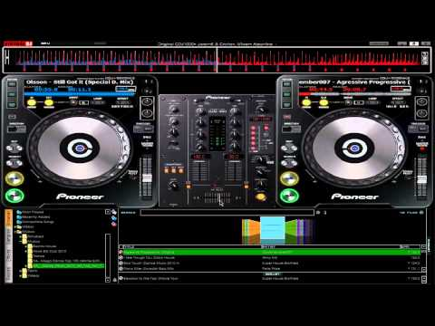Mixing and Playing with Pioneer Virtual DJ skin